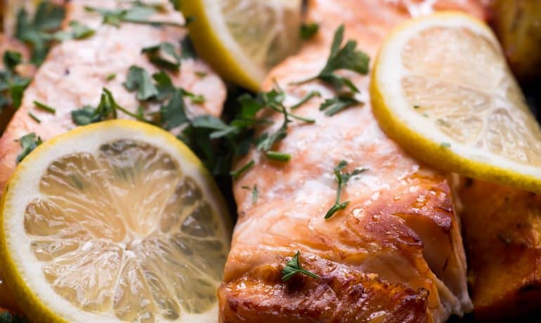 healthy easy oven baked salmon recipe